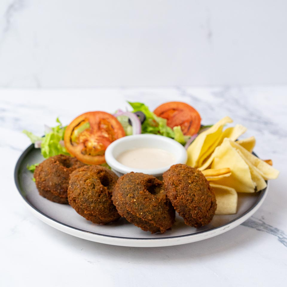 Falafel Basket with Dips